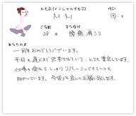 M.Mさん 28歳 男性