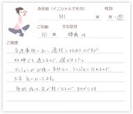 M.Iさん 30歳 女性