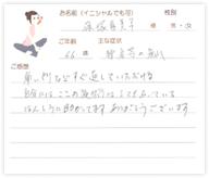 篠塚 喜美子さん 66歳 女性